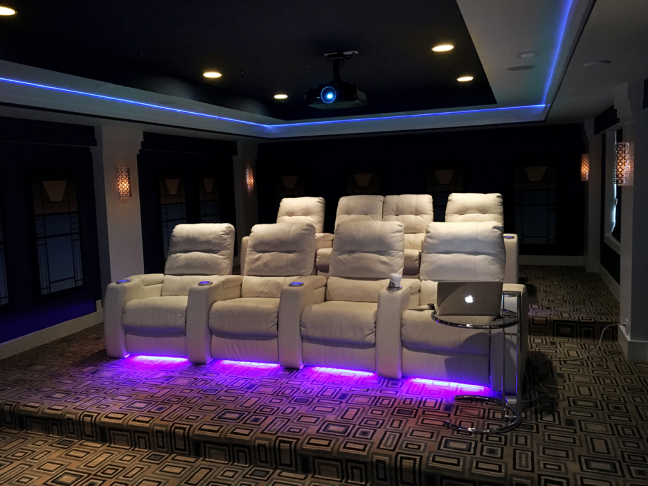 Rockstar av home theater custom lighting